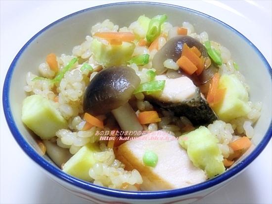 鮭の玄米炊き込みごはん♪