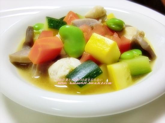 鶏肉と彩り野菜のビネガー煮♪