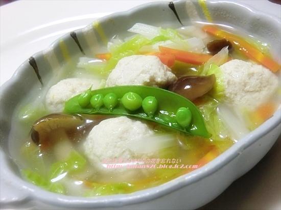 白菜と肉団子の煮込みスープ♪