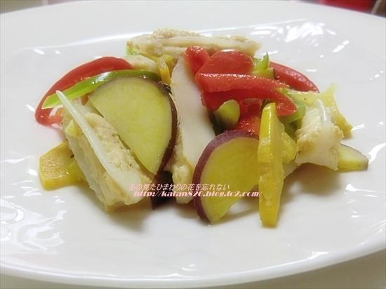 ヤゲン軟骨と夏野菜のソテー♪