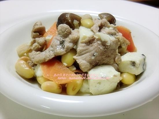 黒五豆腐と豚肉の炒め物♪