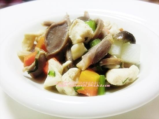 砂肝と小松菜のごま油炒め♪
