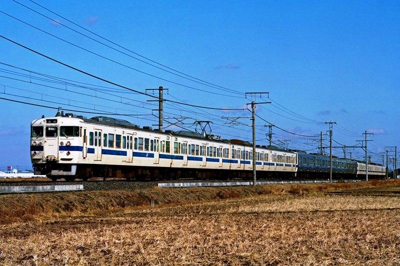 2001年1月19日 藤代~取手にて