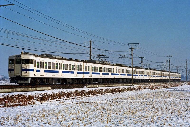 2001年1月21日 藤代~取手にて