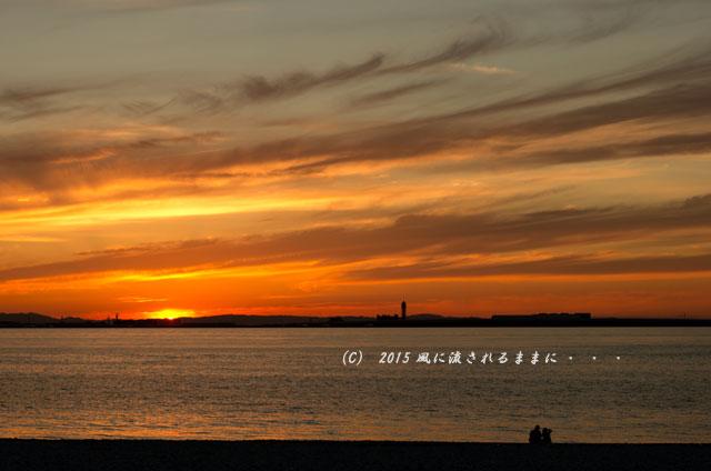 2015年6月 大阪・マーブルビーチの夕日12