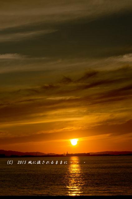 2015年6月 大阪・マーブルビーチの夕日8