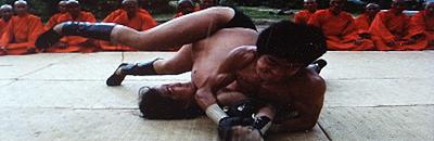 ブルース・リーと対決するサモ・ハン・キンポー