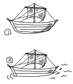 船を浮かべる