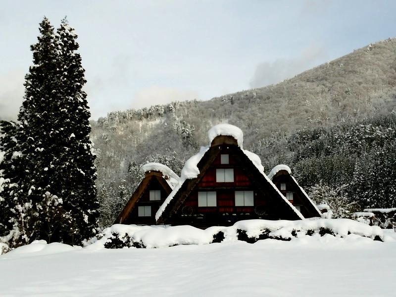 雪深い季節になると白川郷まで辿り着くのも大変ですが、その苦労もこの景色を見たら一瞬で吹っ飛びそう~ ⑤