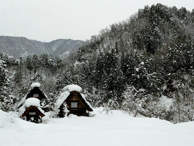 雪深い季節になると白川郷まで辿り着くのも大変ですが、その苦労もこの景色を見たら一瞬で吹っ飛びそう~ ⑥