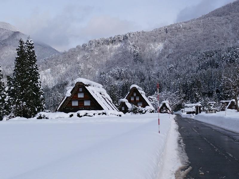 【世界遺産 白川郷】天守閣展望台から見る雪景色にシアワセ感じるニッポンの冬休み ④