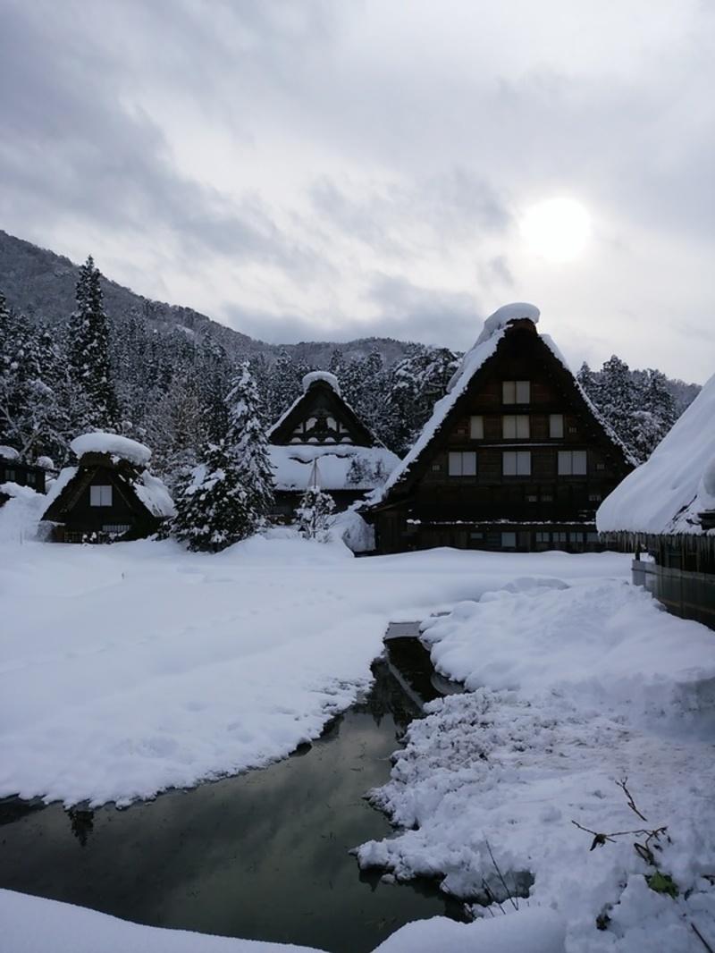 【世界遺産 白川郷】天守閣展望台から見る雪景色にシアワセ感じるニッポンの冬休み ⑨
