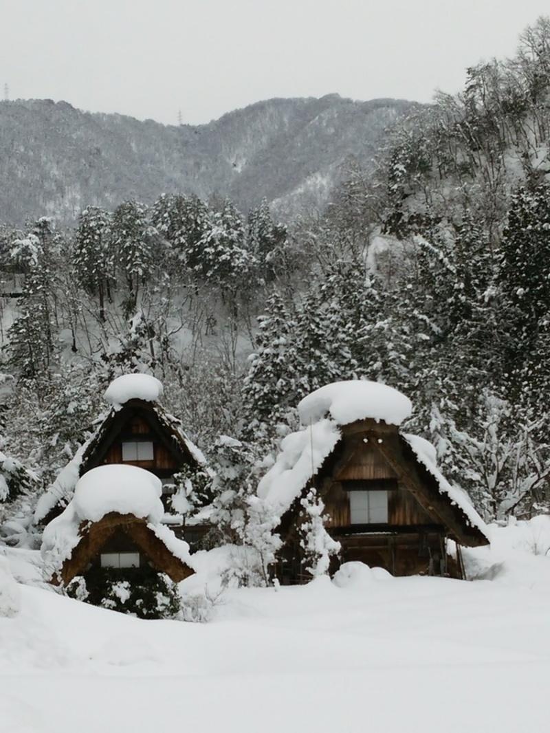 昔はどこにでもみられた日本の冬の風景 白川郷 ④