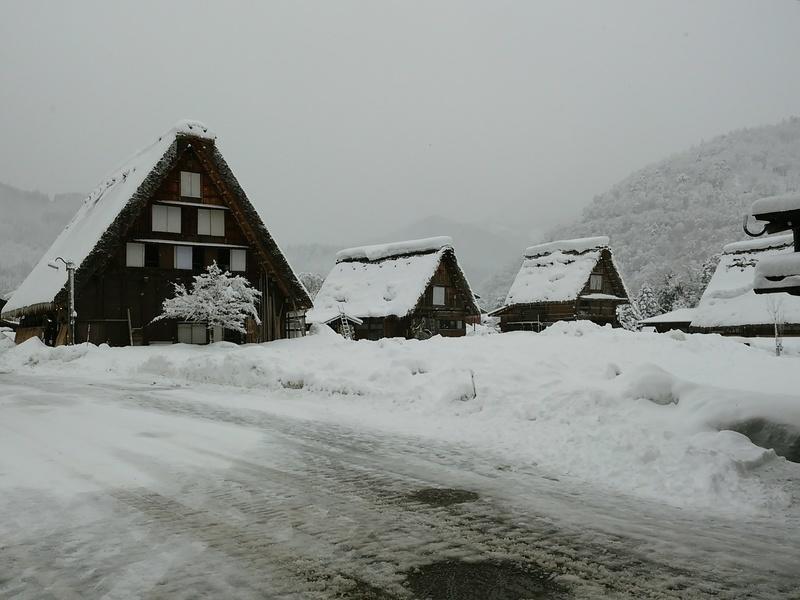昔はどこにでもみられた日本の冬の風景 白川郷 ⑤