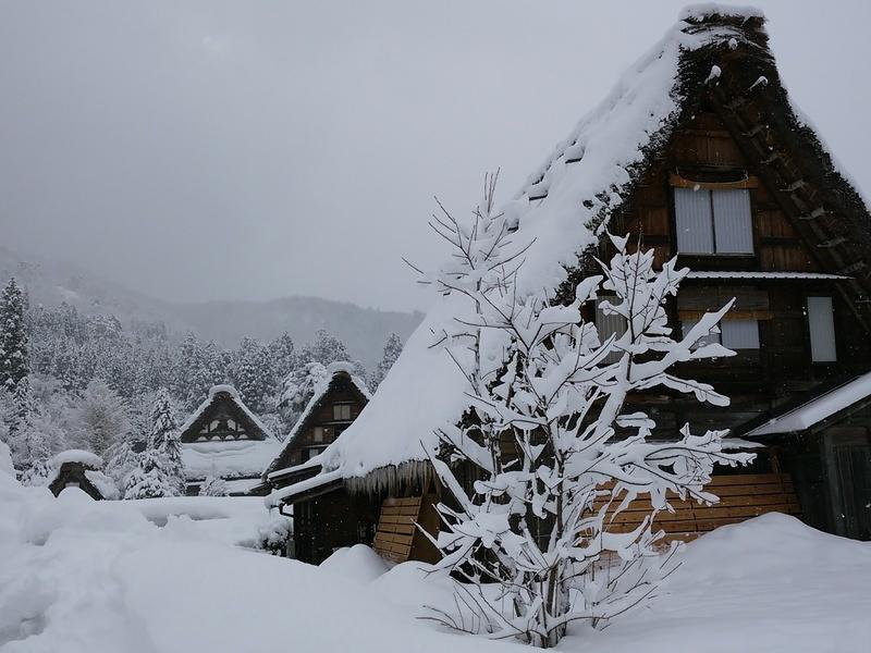 昔はどこにでもみられた日本の冬の風景 白川郷 ⑥