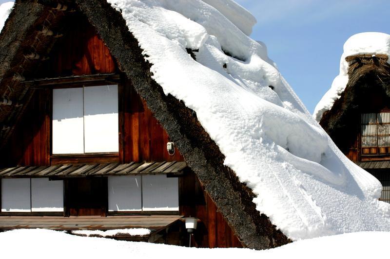ここは雪が無いと絵にならない白川郷 ⑧
