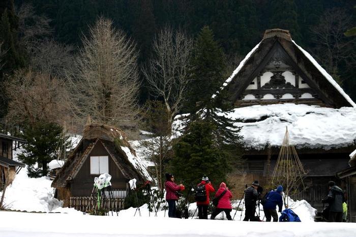 真冬の風物詩 白川郷合掌造り集落のライトアップが1月31日&2月1日始まります ④