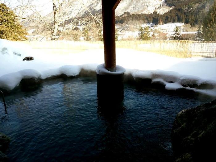 大白川温泉 しらみずの湯 白山の麓 源泉が復旧して今日から露天風呂も入れます ⑩
