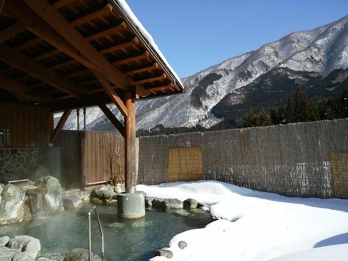大白川温泉 しらみずの湯 白山の麓 源泉が復旧して今日から露天風呂も入れます ⑪