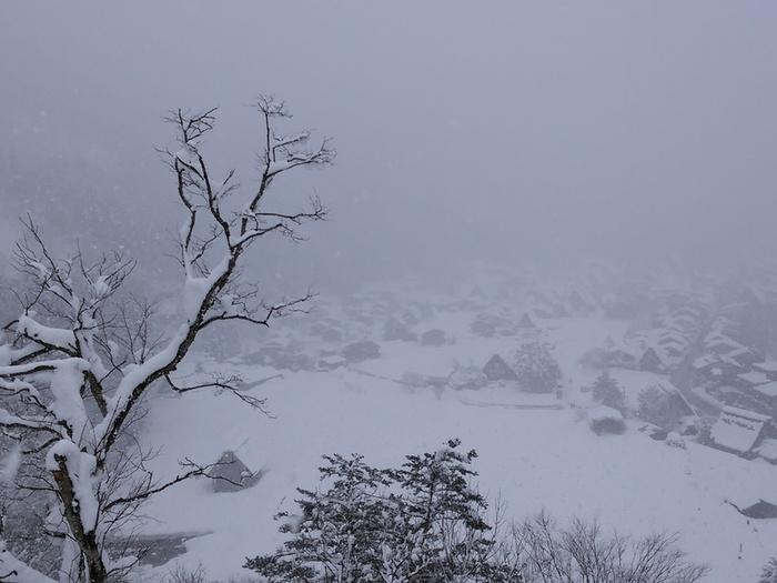 まだまだ雪景色を満喫できる白川郷にも、春の足音がゆっくりと近づいているはず。。①