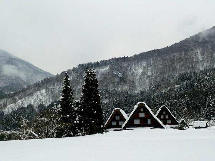 まだまだ雪景色を満喫できる白川郷にも、春の足音がゆっくりと近づいているはず。。④