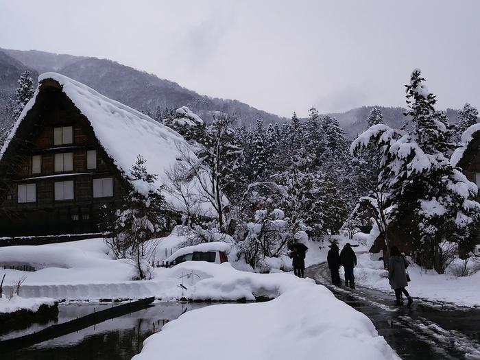 まだまだ雪景色を満喫できる白川郷にも、春の足音がゆっくりと近づいているはず。。⑧