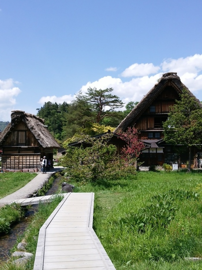 新緑初夏の白川郷を観光 ④