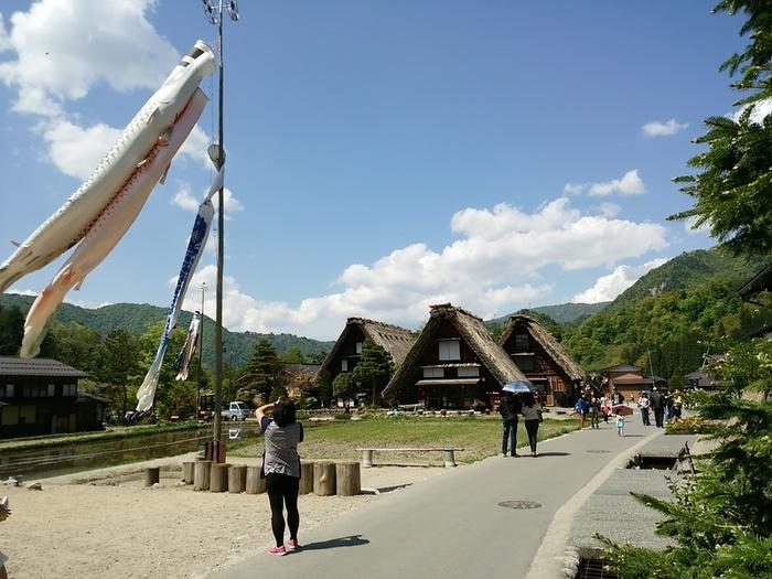 新緑初夏の白川郷を観光 ⑦