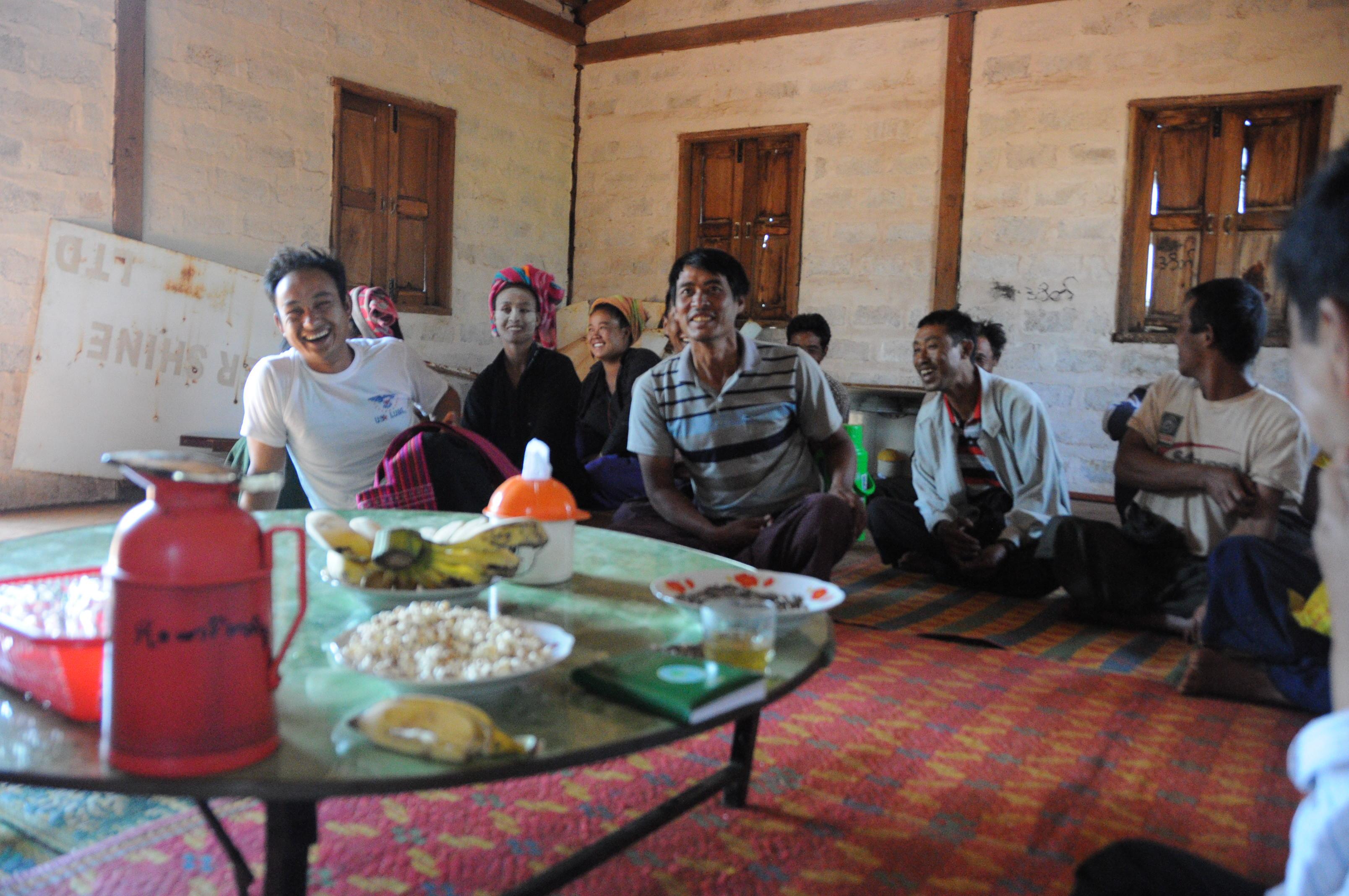 ミャンマーの農民