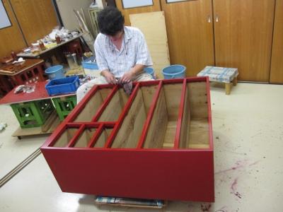 漆塗り直し、箪笥再生、朱中塗り、研ぎ