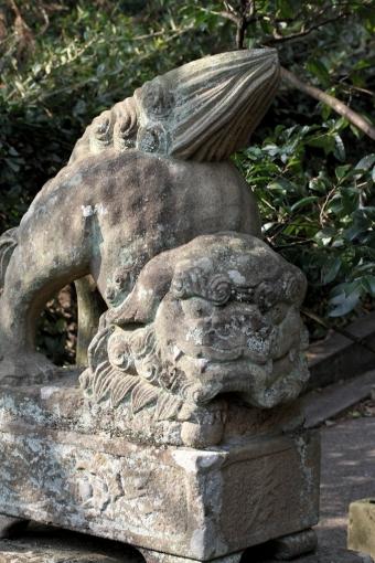 八大荒神社の狛犬さん