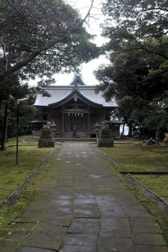 粟島神社の拝殿