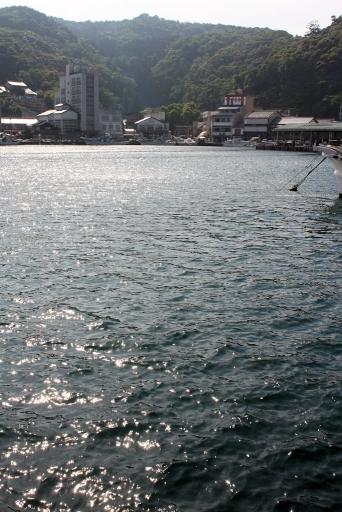 島屋跡地から見た美保神社