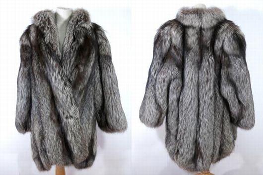 シルバーフォックス 毛皮コート