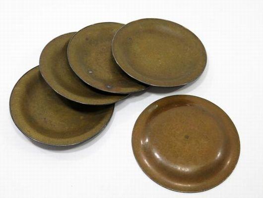 生駒製 黄銅 銘々皿 菓子皿 5客