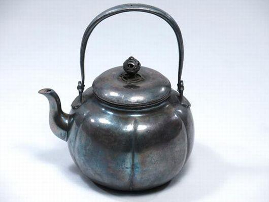 煎茶道具 銀瓶 湯沸 純銀