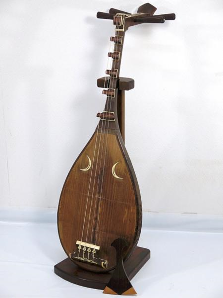 和楽器 琵琶 象牙細工 彫刻あり