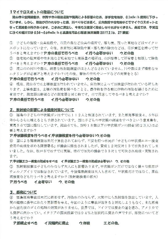 県議選アンケート