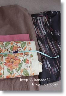 くるりの木綿×唐草模様の帯