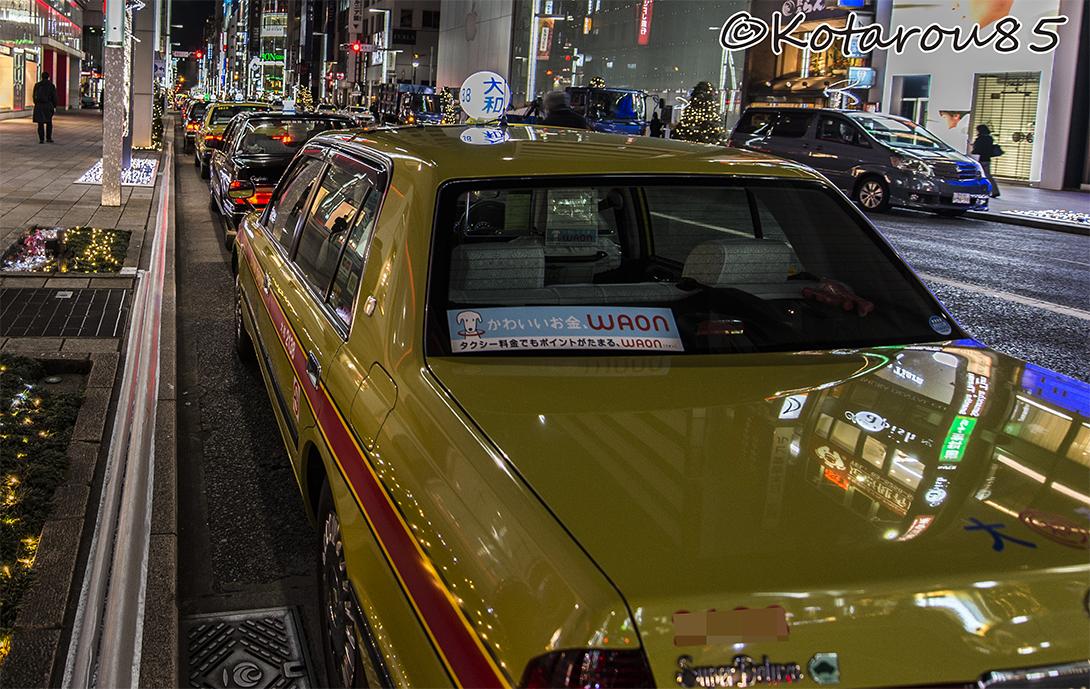 タクシーの列 20150112