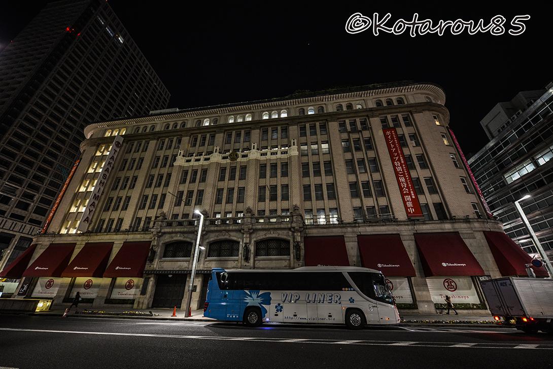 深夜のバスターミナル 20150130
