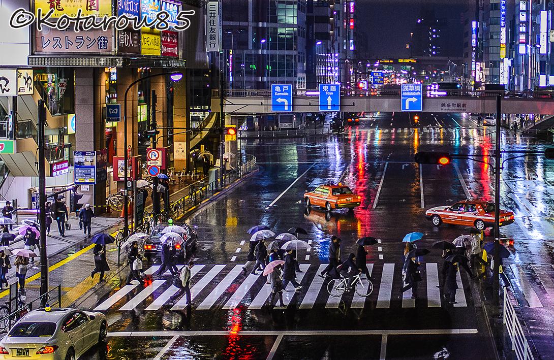 錦糸町に春の雨 20150317