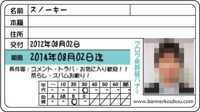 FX口座開設用免許証