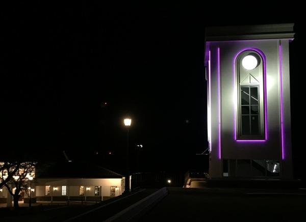 ライトアップされた海望館