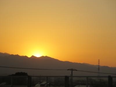 大山の夕日