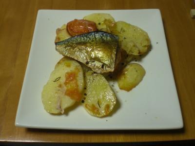 鯖・ジャガイモのオーブン焼き