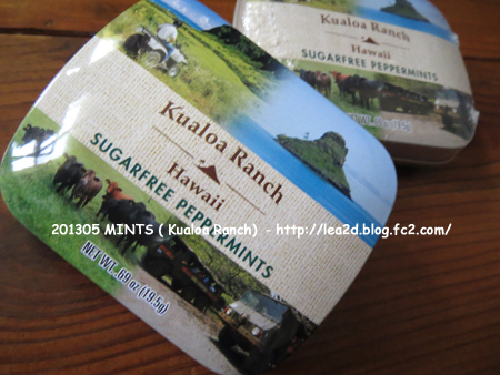 2014年5月 MINTS ( Kualoa Ranch ) クアロアランチのミント缶