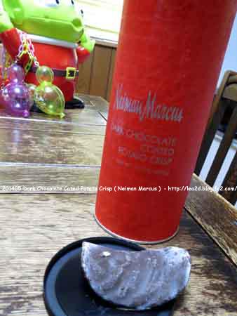 2014年5月 Dark Chocolate Cated Potato Crisp ( Neiman Marcus ) ニーマンマーカスのダークチョコレートポテトチップス