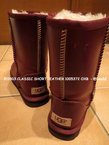 201503 UGG ブーツ【CLASSIC SHORT LEATHER 1005372 OXB】
