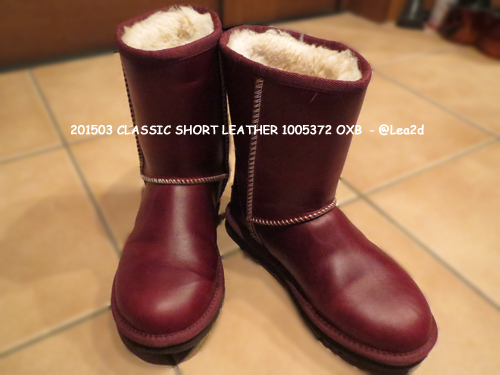 201503 UGG ブーツ【CLASSIC SHORT LEATHER 1005372 OXB】